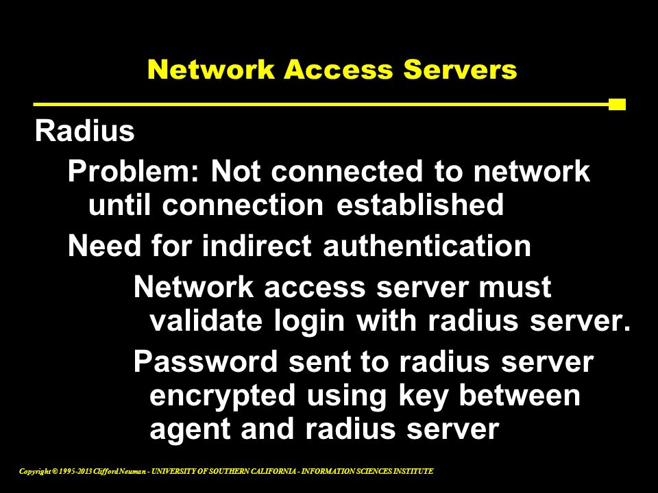Network Access Servers
