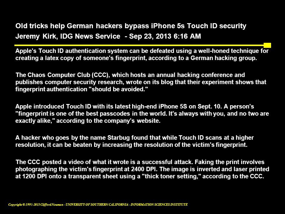 Old tricks help German hackers bypass iPhone 5s Touch ID security