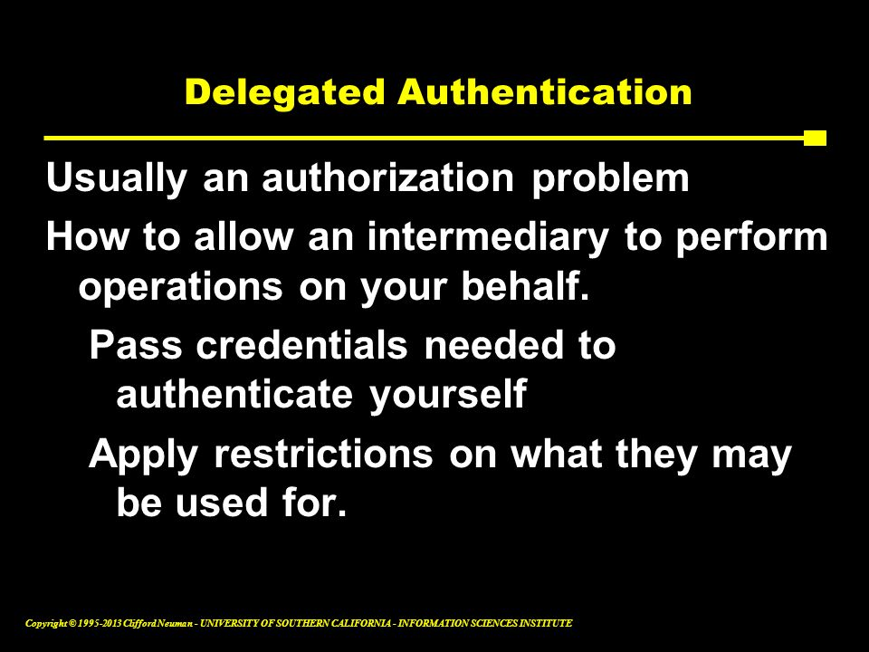 Delegated Authentication