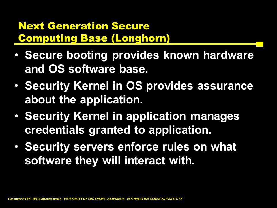 Next Generation Secure Computing Base (Longhorn)