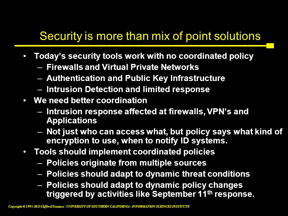 Security is more than mix of point solutions
