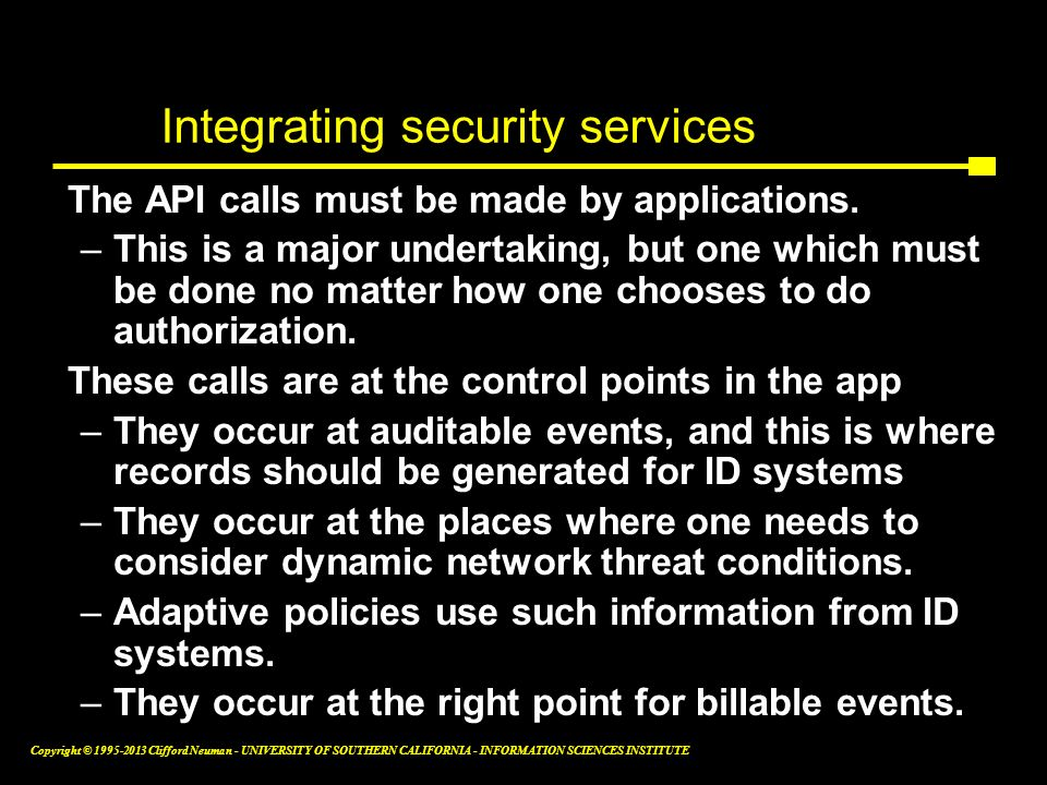 Integrating security services