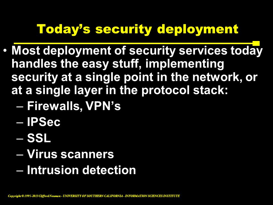 Today's security deployment