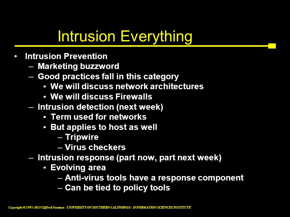 Intrusion Everything Intrusion Prevention Marketing buzzword