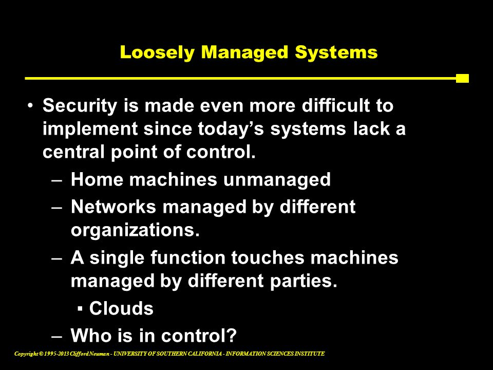 Loosely Managed Systems