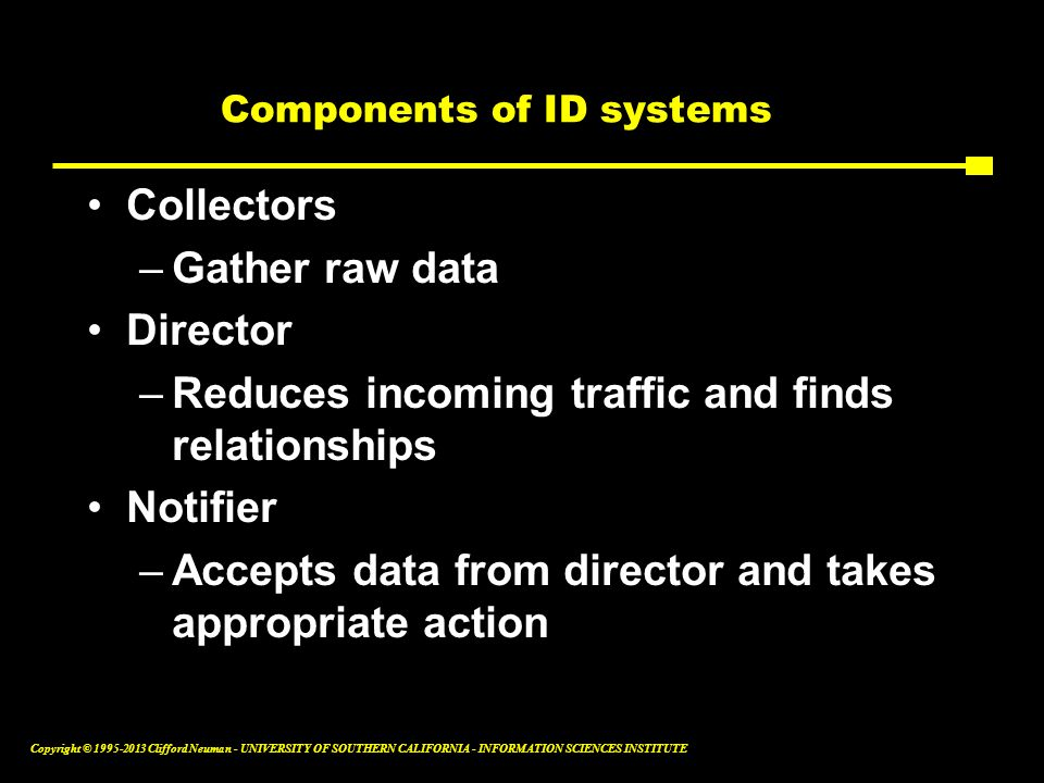 Components of ID systems