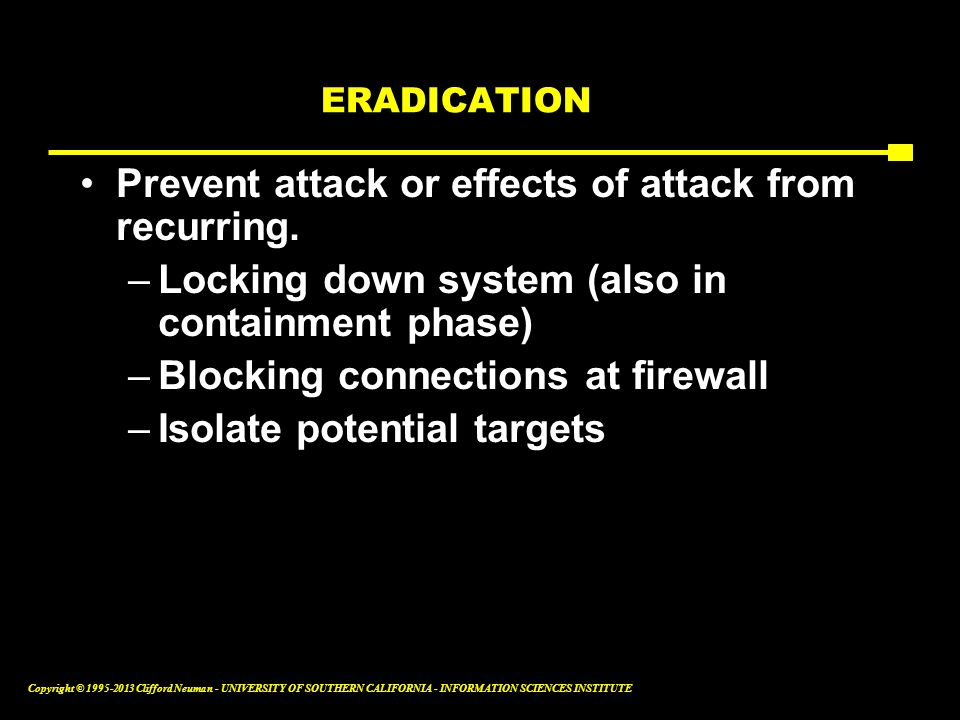 Prevent attack or effects of attack from recurring.