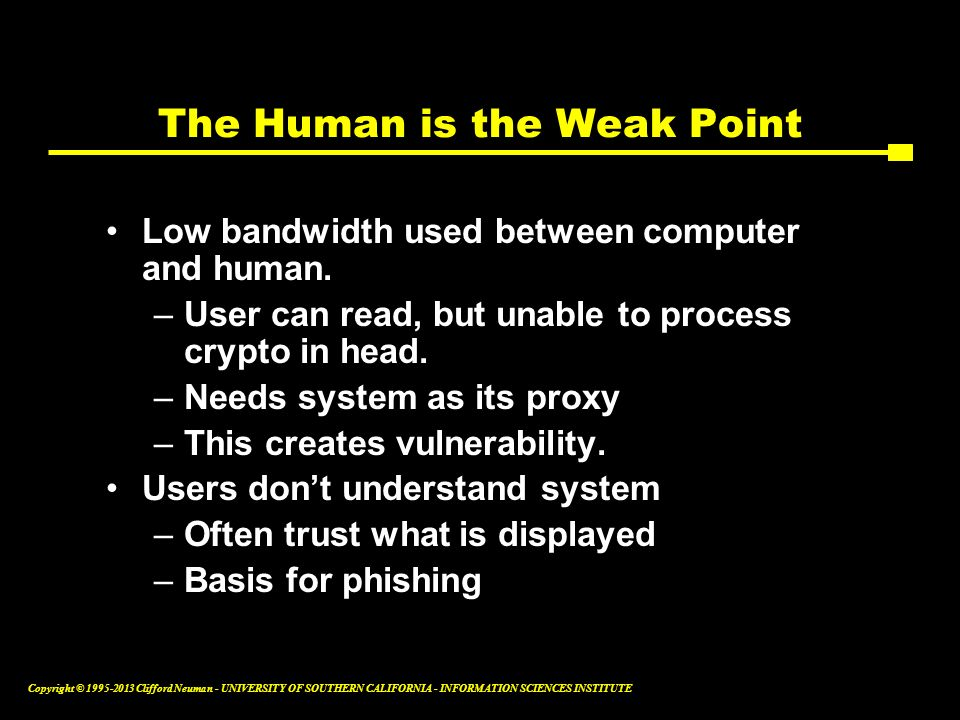 The Human is the Weak Point