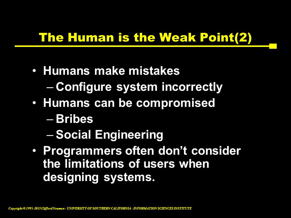 The Human is the Weak Point(2)