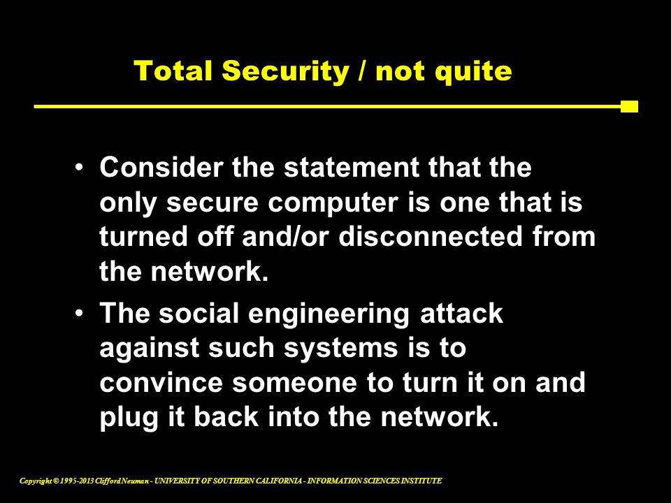 Total Security / not quite