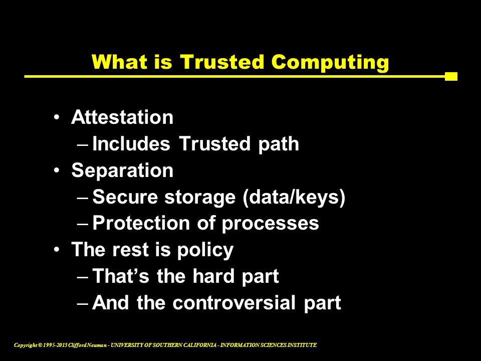 What is Trusted Computing