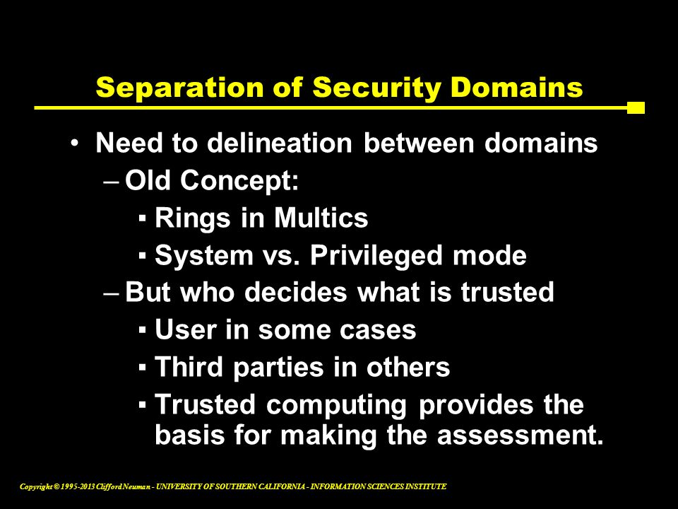Separation of Security Domains