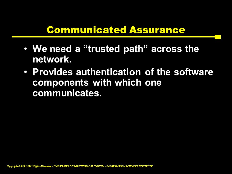 Communicated Assurance