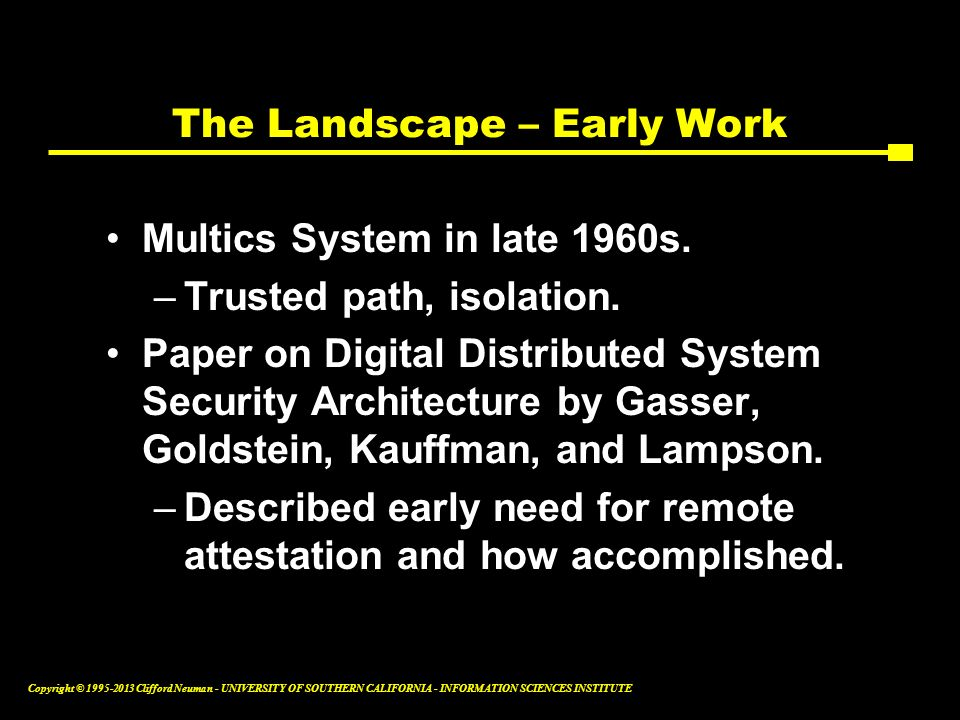 The Landscape – Early Work