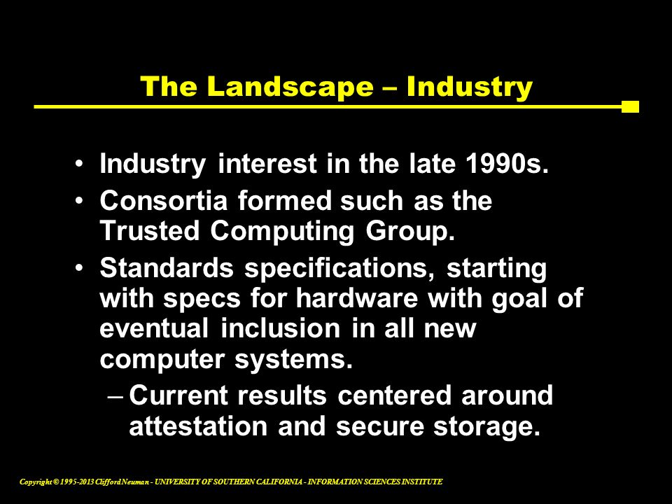The Landscape – Industry