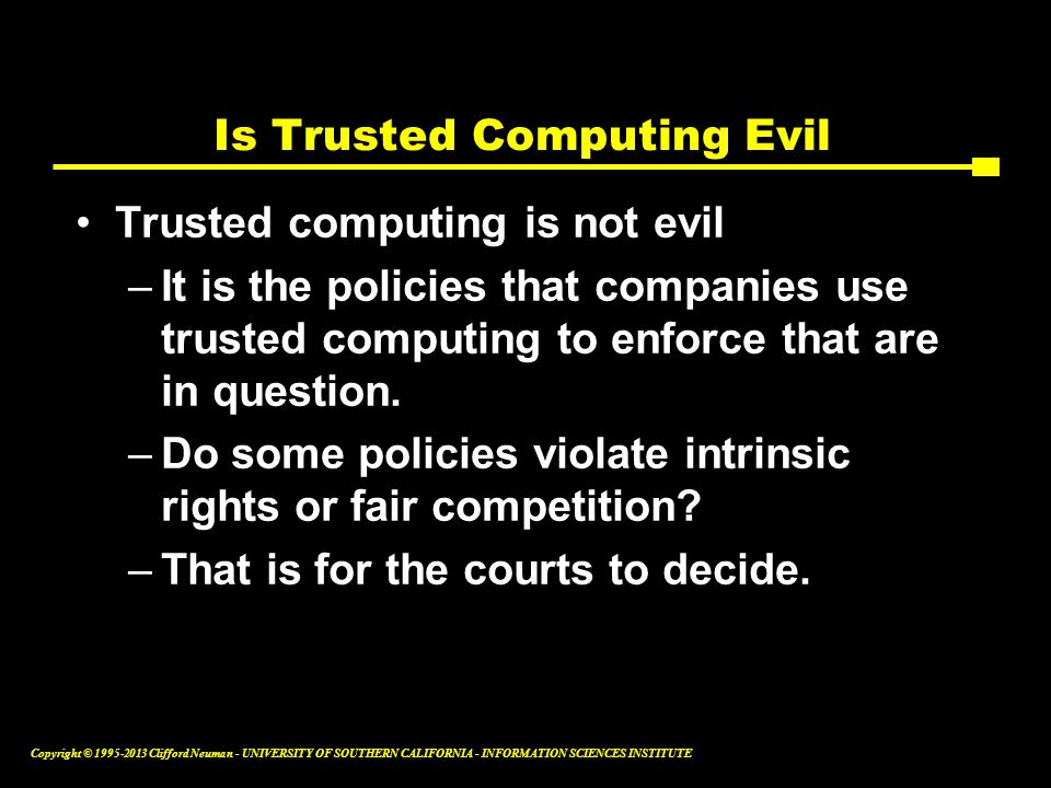 Is Trusted Computing Evil