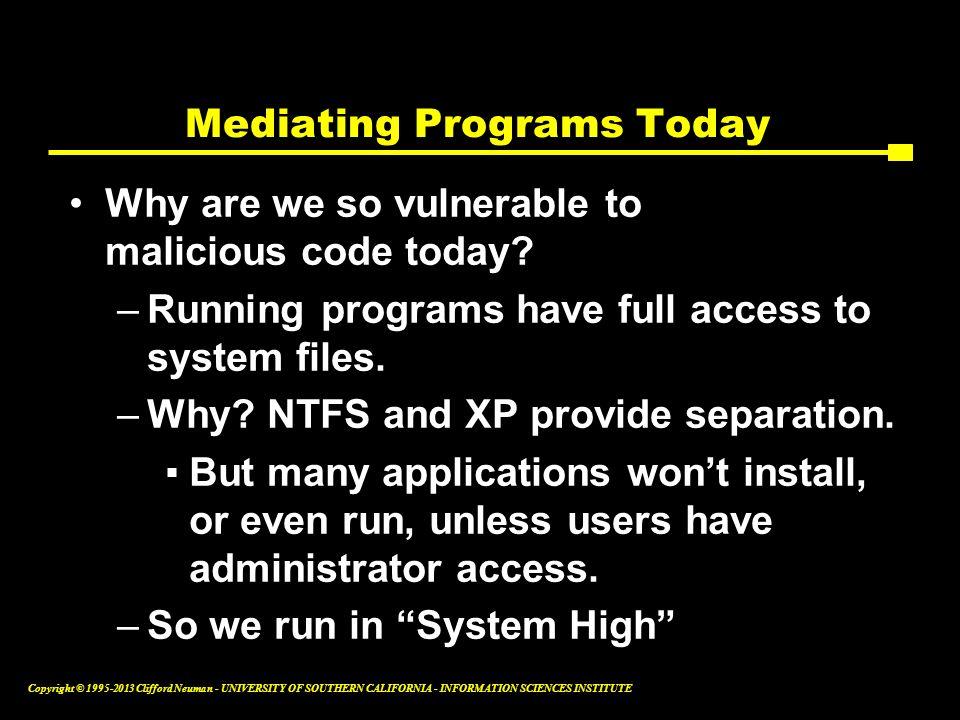 Mediating Programs Today