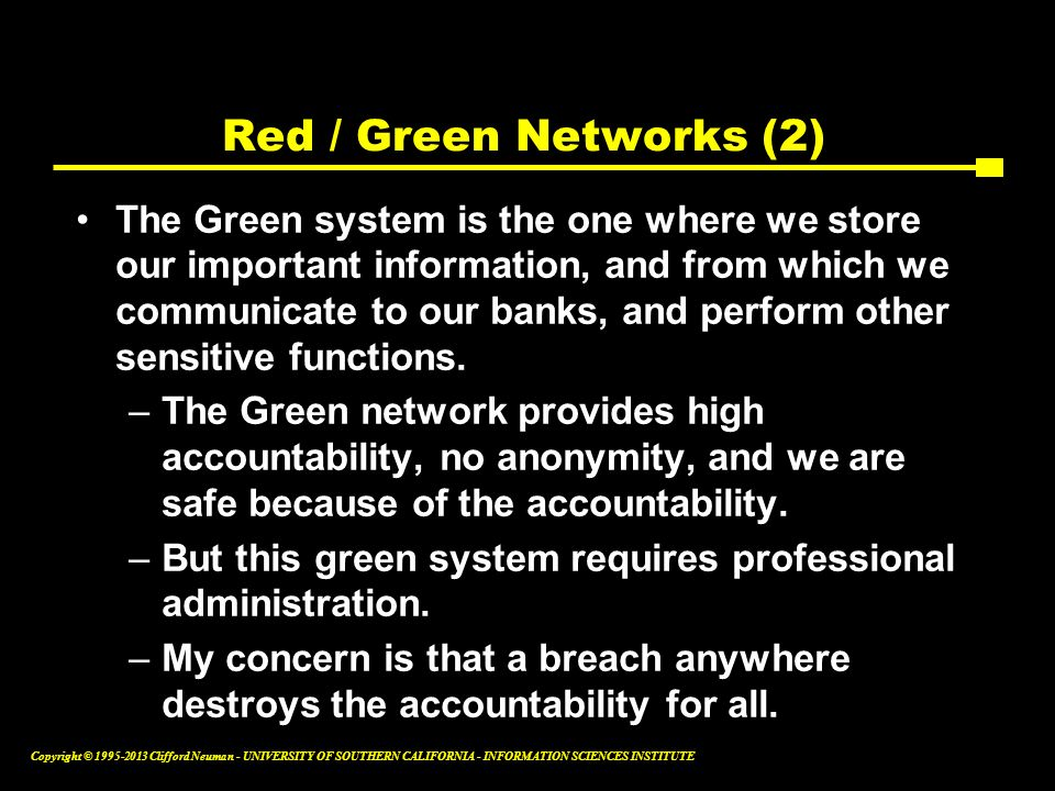 Red / Green Networks (2)