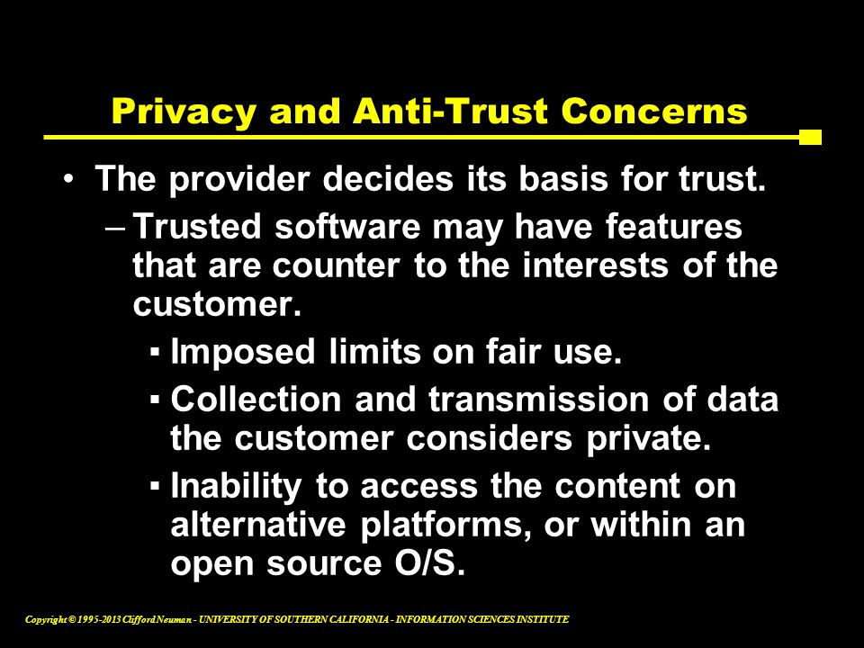 Privacy and Anti-Trust Concerns