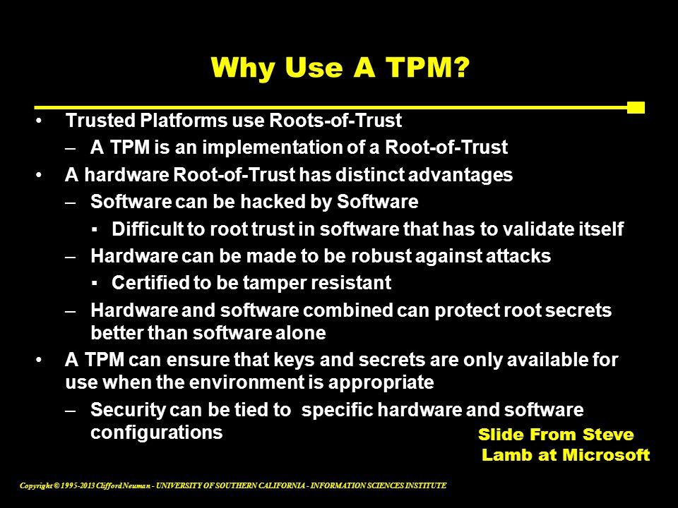 Slide From Steve Lamb at Microsoft