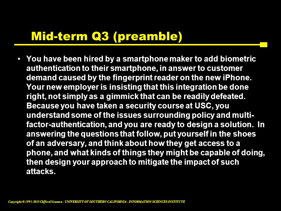 Mid-term Q3 (preamble)