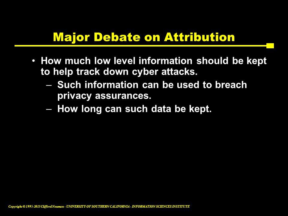 Major Debate on Attribution