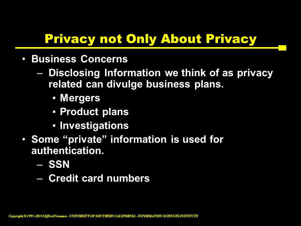 Privacy not Only About Privacy
