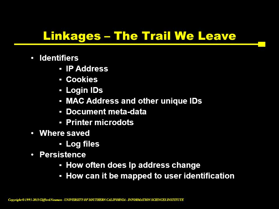 Linkages – The Trail We Leave