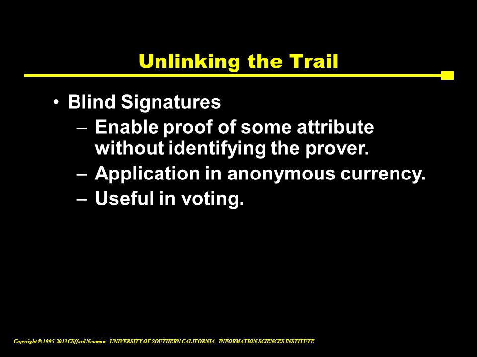 Unlinking the Trail Blind Signatures