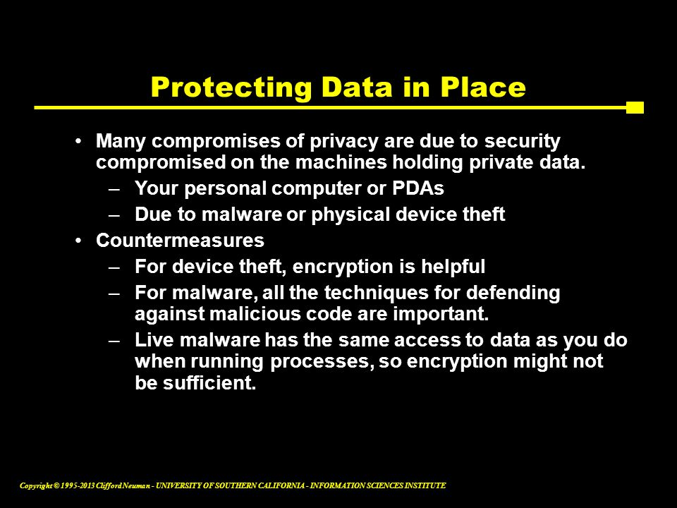 Protecting Data in Place