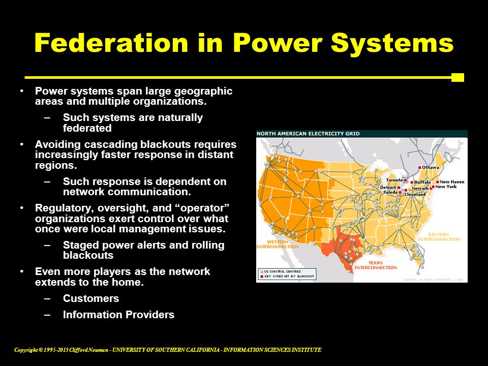 Federation in Power Systems