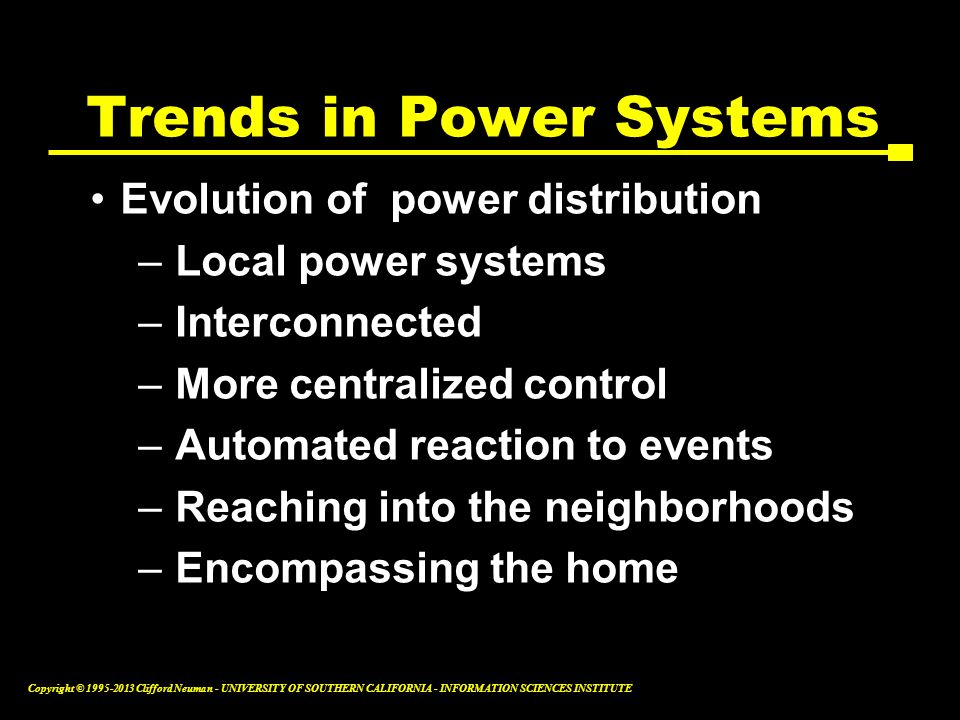 Trends in Power Systems