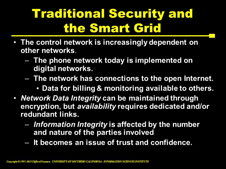 Traditional Security and the Smart Grid