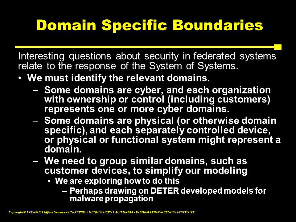 Domain Specific Boundaries