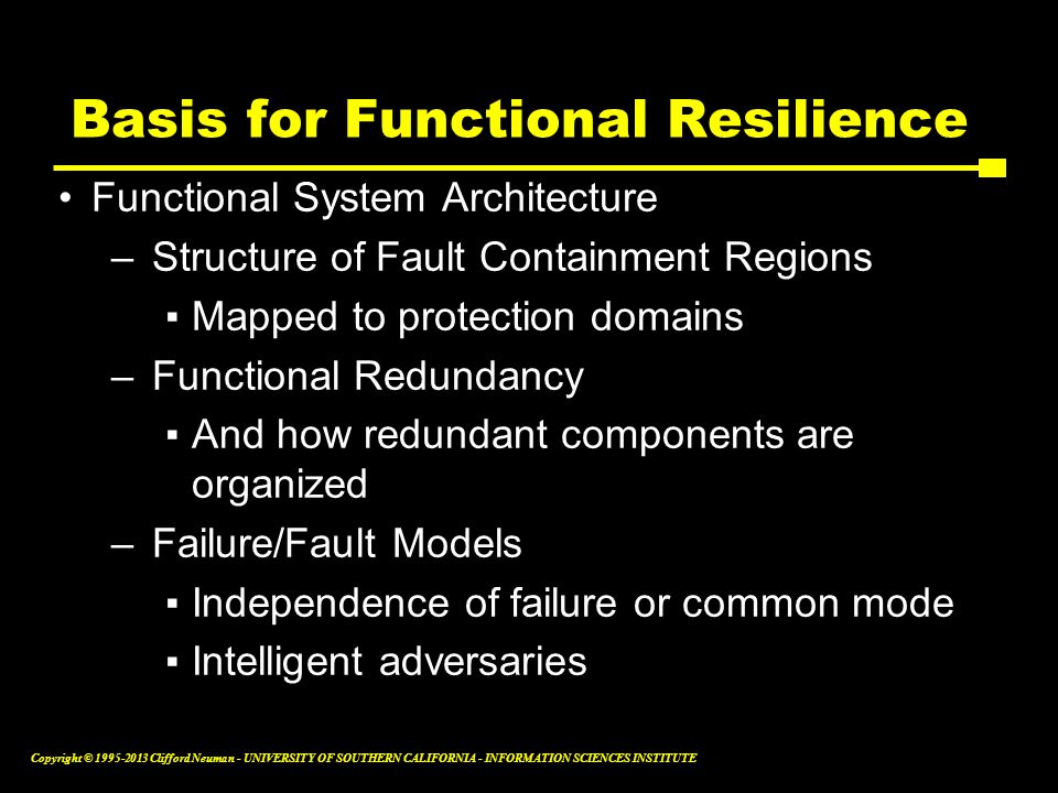 Basis for Functional Resilience