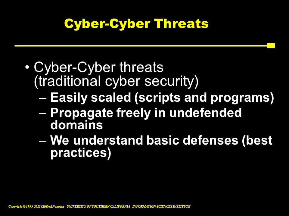 Cyber-Cyber threats (traditional cyber security)