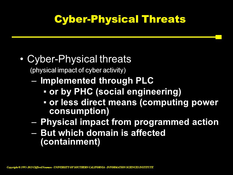 Cyber-Physical Threats