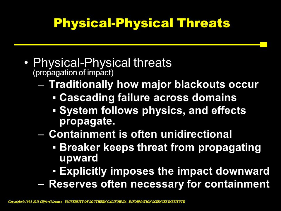 Physical-Physical Threats