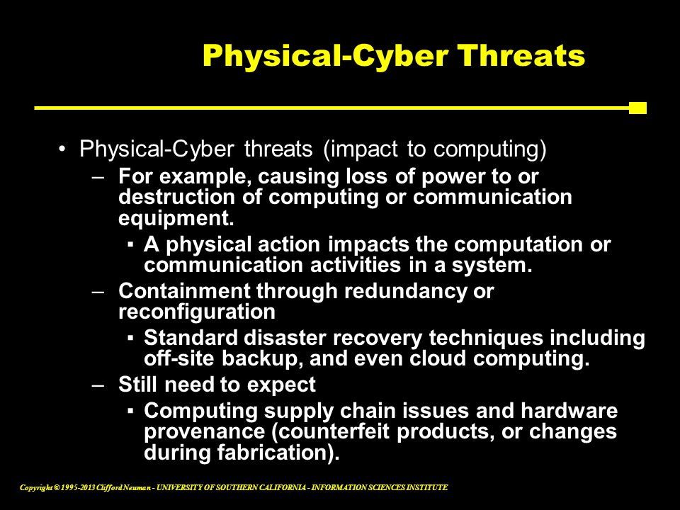 Physical-Cyber Threats