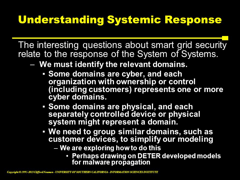 Understanding Systemic Response