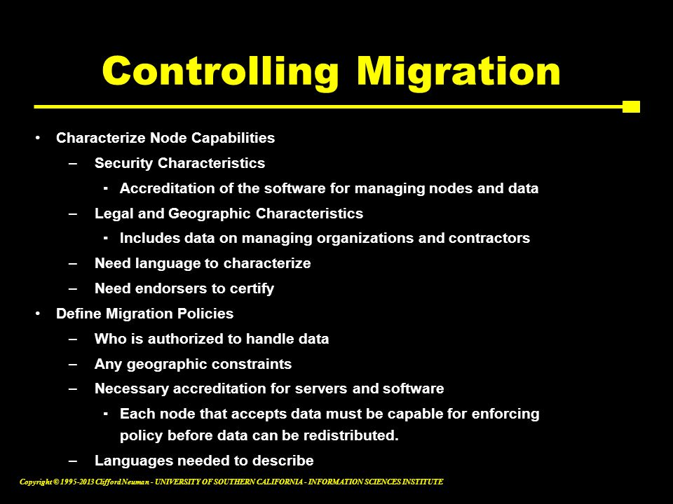Controlling Migration