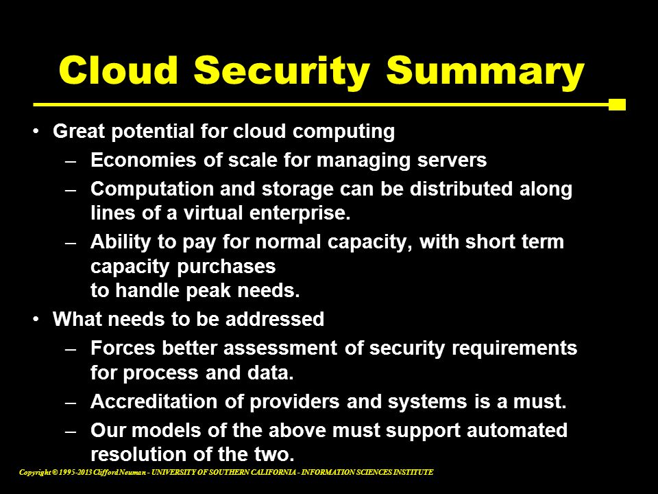 Cloud Security Summary