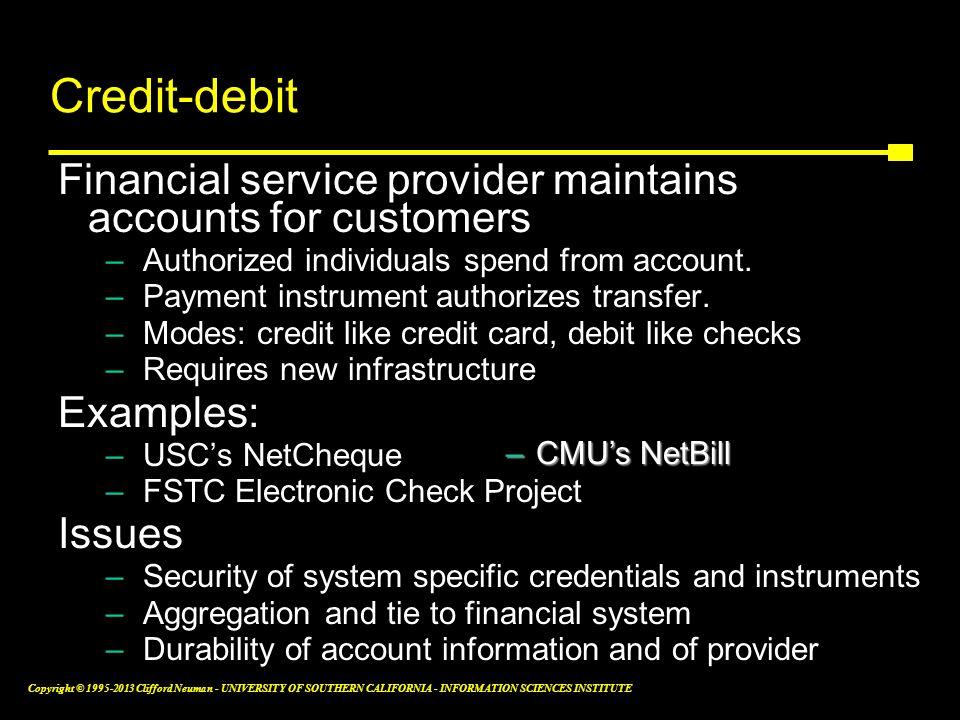 Credit-debit instruments