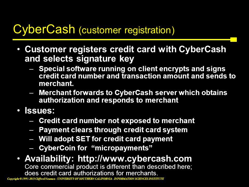 CyberCash (customer registration)