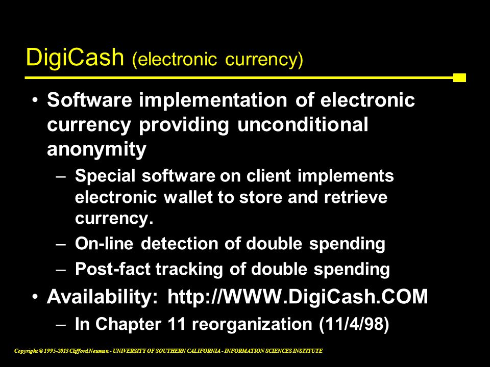 DigiCash (electronic currency)