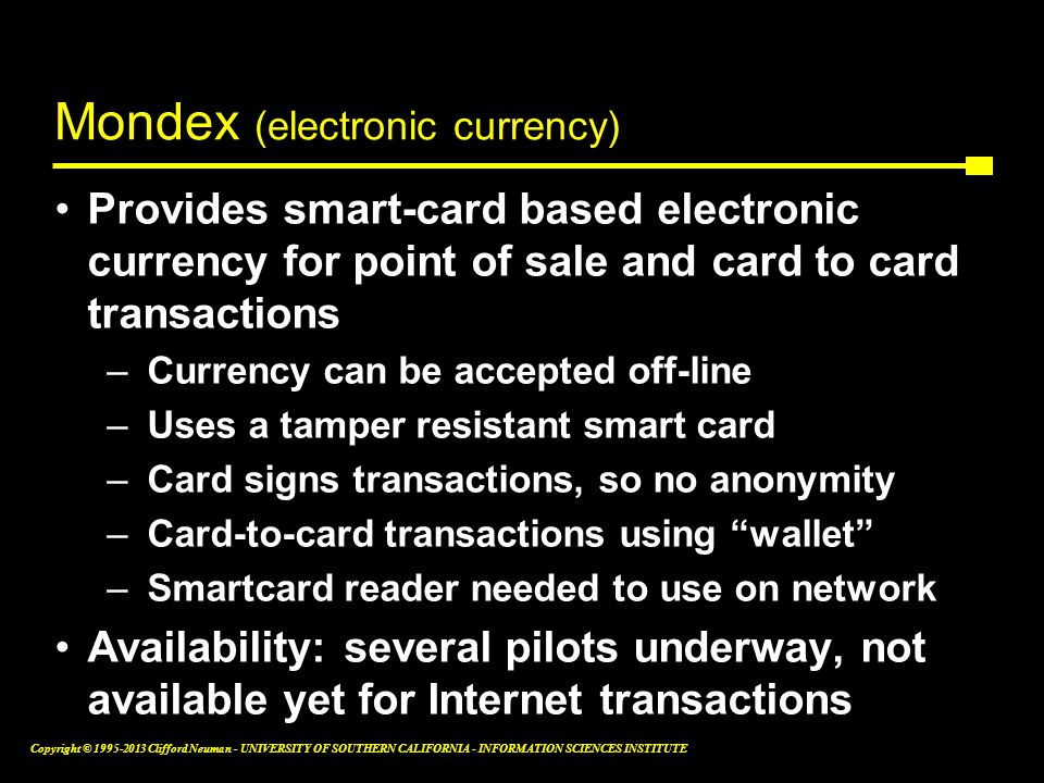 Mondex (electronic currency)