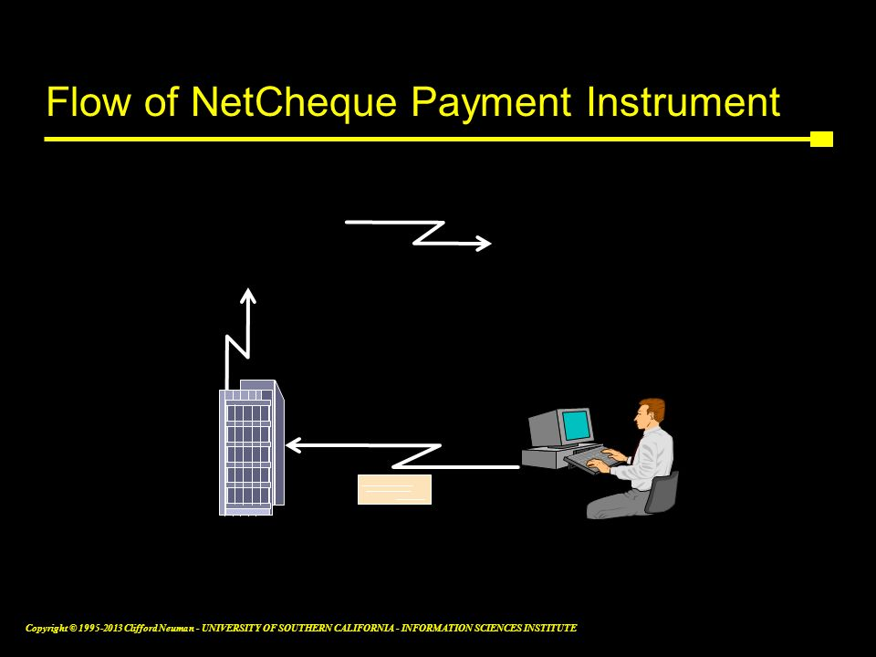 Flow of NetCheque Payment Instrument