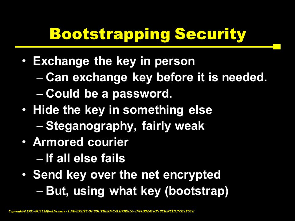 Bootstrapping Security
