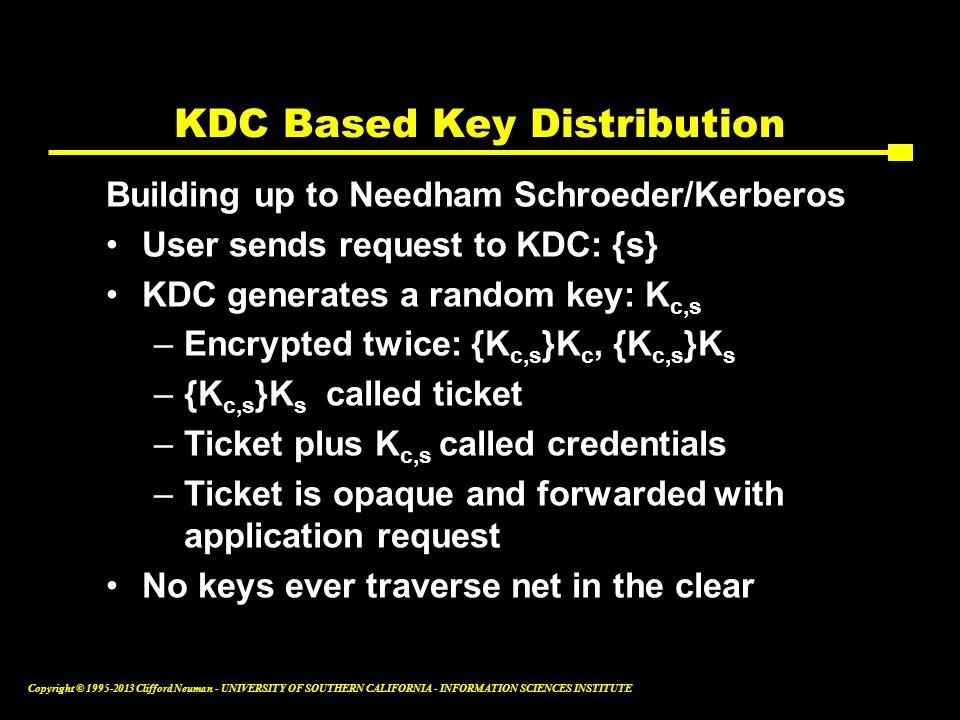 KDC Based Key Distribution