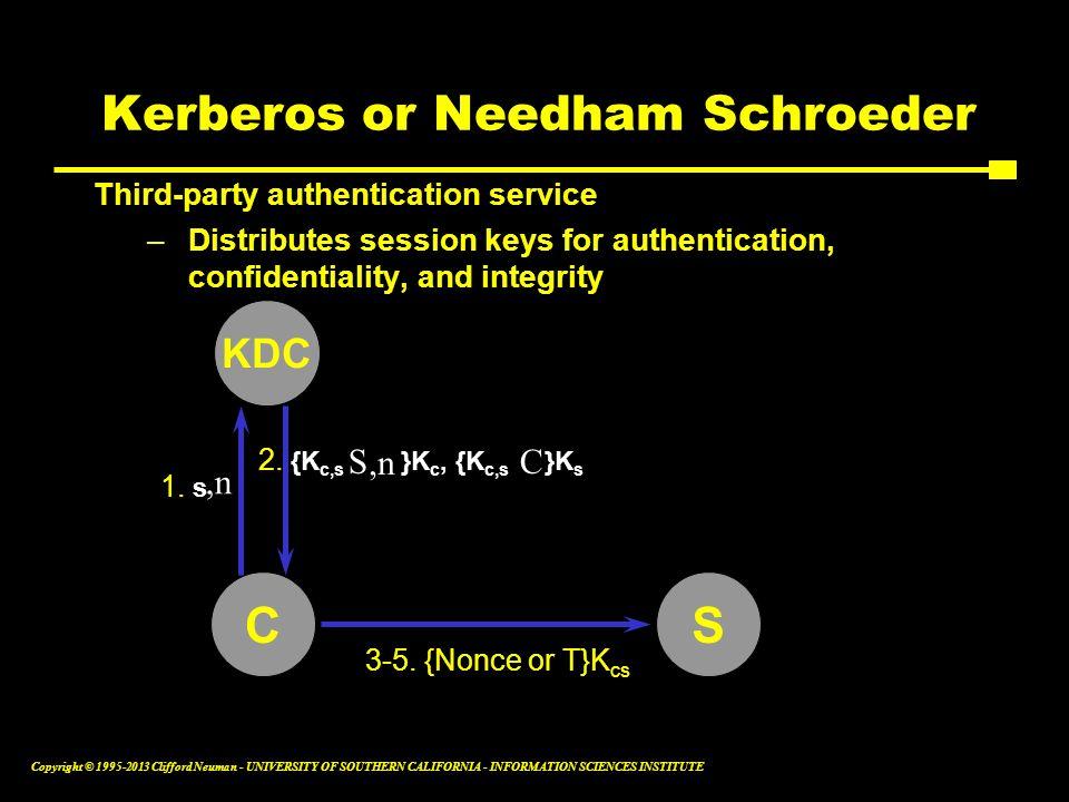 Kerberos or Needham Schroeder